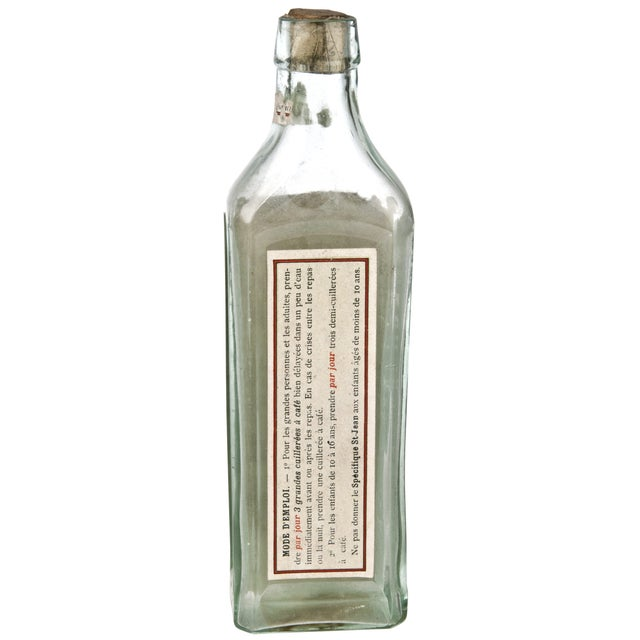French Vintage French Stomach Maladies Bottle For Sale - Image 3 of 4