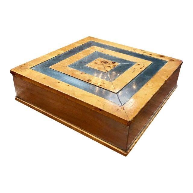 Tommaso Barbi 1960 Jewelry Box in Birch For Sale
