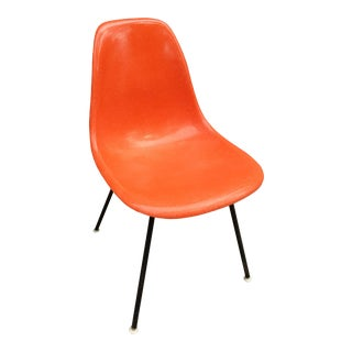 Herman Miller Eames Orange Fiberglass Chair