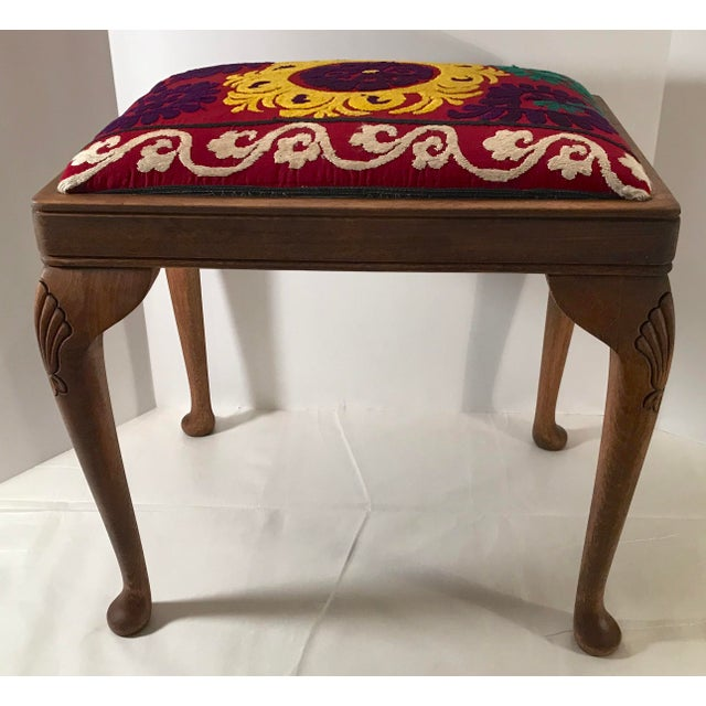 20th Century Persian Uzbek Suzani Stool Bench For Sale In Dallas - Image 6 of 9