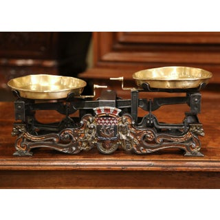 19th Century French Hand-painted Iron and Brass Scale With Paris Coat of Arms Preview