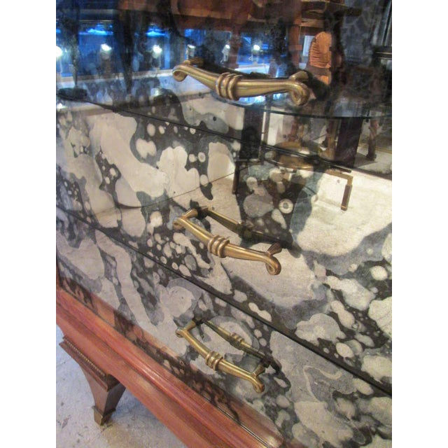 Whimsical Italian Mirrored Chest of Drawers For Sale In New York - Image 6 of 9