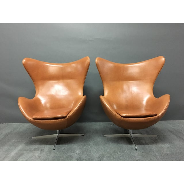 Arne Jacobsen for Fritz Hansen Egg Chairs - A Pair - Image 5 of 9