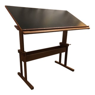 1970s Vintage Trekanten Danish Teak Drafting Table For Sale
