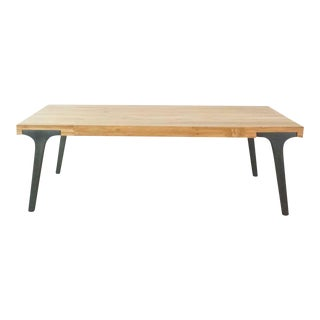 Crate and Barrel Recycled Teak Lakin Coffee Table For Sale