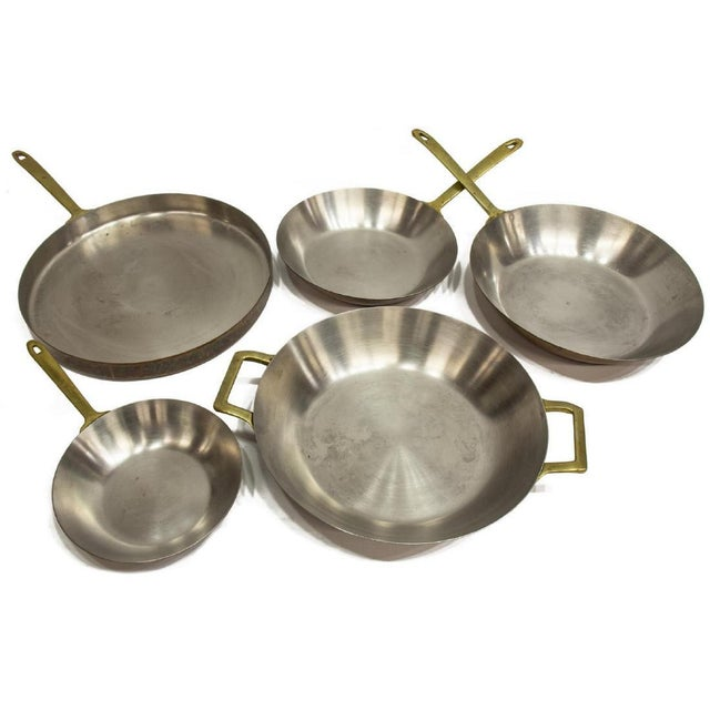 1980s Vintage Paul Revere Limited Edition Copper Pans - Set of 5 For Sale - Image 5 of 5