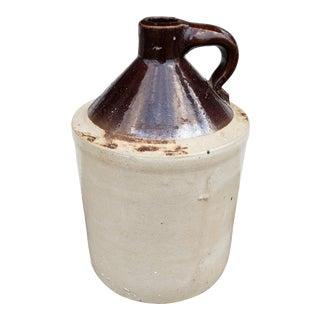 Antique Stoneware Moonshine Whiskey Jug For Sale