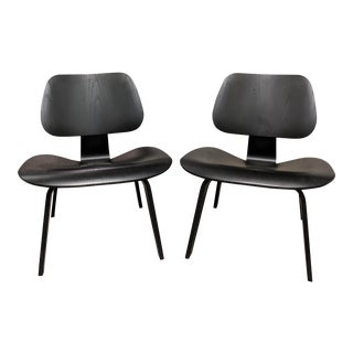Modern Eames Plywood Lcw Lounge Chairs- A Pair For Sale