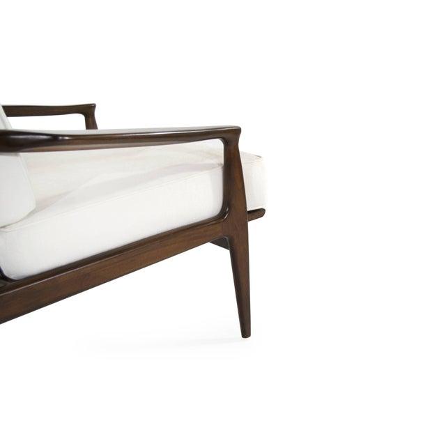 Wood Milo Baughman for Thayer Coggin Walnut Archie Lounge Chairs For Sale - Image 7 of 11
