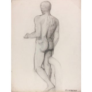Male Sculpture Drawing, C. 1930 For Sale