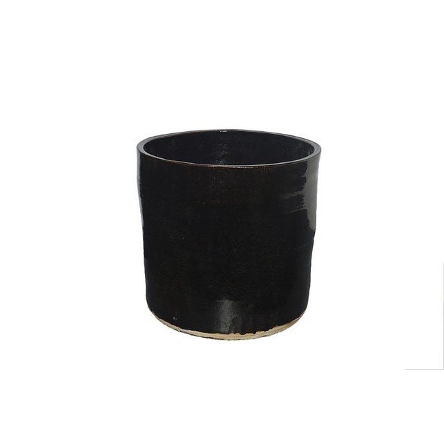 Our Artisan Series includes this modern shaped large hand thrown ceramic planter made in California. The pots are each...
