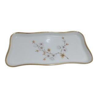 Asian Style Gilted Ceramic Jewelry Tray For Sale