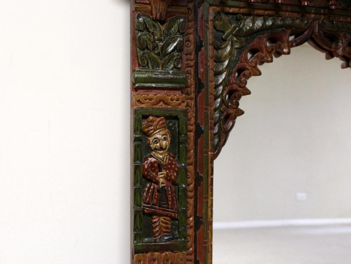 Hand Painted Royal Maharaja Mirror Frame   Image 3 Of 5