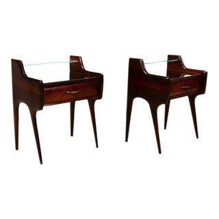 Pair of Italian Nightstands After Ico Parisi For Sale