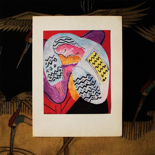 "Modern 1940s Henri Matisse ""The Dream"", Original Period Swiss Lithograph For Sale - Image 3 of 8"