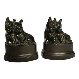 Scotty Dog Bookends - A Pair