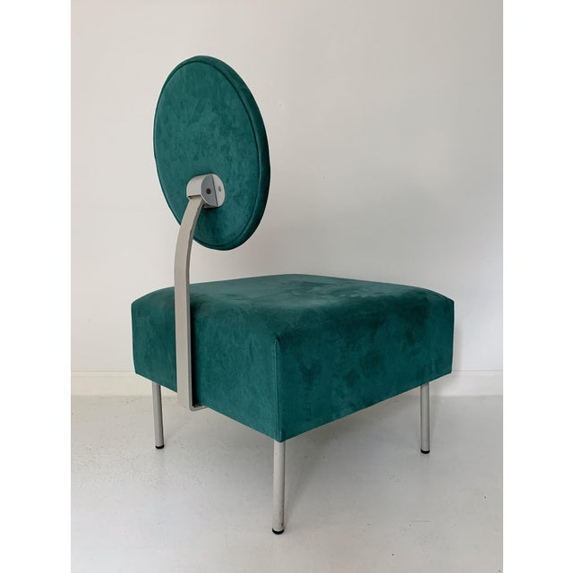 1980s 1980's Vintage Andreu World Contemporary Green Square Lounge Chair For Sale - Image 5 of 7