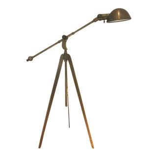 Visual Comfort Boom Arm Bronze Floor Lamp For Sale