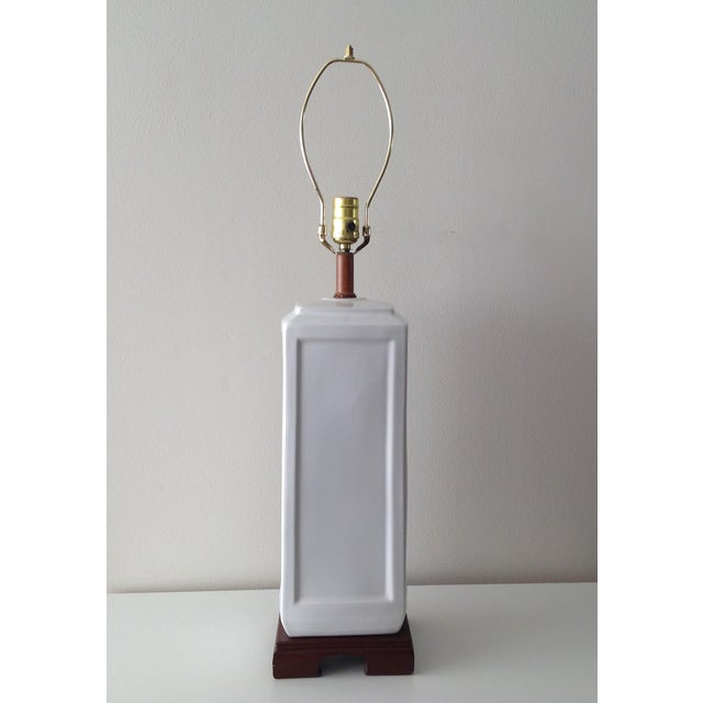 Asian Porcelain Blanc De Chin Lamp - Image 3 of 8