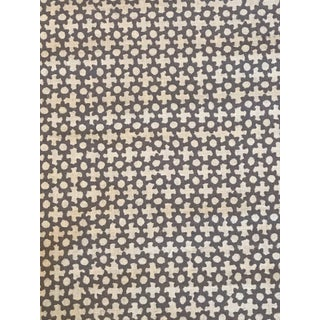 Galbraith & Paul Lavender on Star Logan Natural Linen Fabric - 4 3/8 Yards For Sale