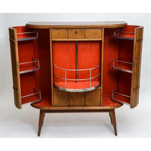 Italian Modern Ash, Walnut, Olivewood, Mahogany Bar Cabinet, Luigi Scremin For Sale - Image 4 of 8