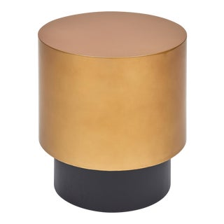 Benton Side Table in Gold For Sale