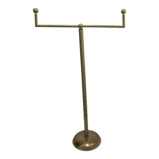 Art Deco Department Store Hat or Tie Brass Display Rack For Sale