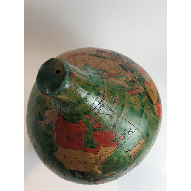 Wood Vintage Handmade Gourd Globe For Sale - Image 7 of 11