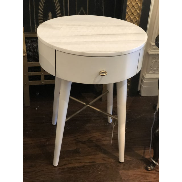 Contemporary Penelope Nightstand With Marble Top For Sale - Image 3 of 6