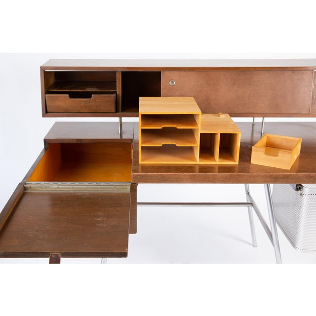 Mid-Century Modern George Nelson for Herman Miller Walnut Desk For Sale - Image 3 of 7
