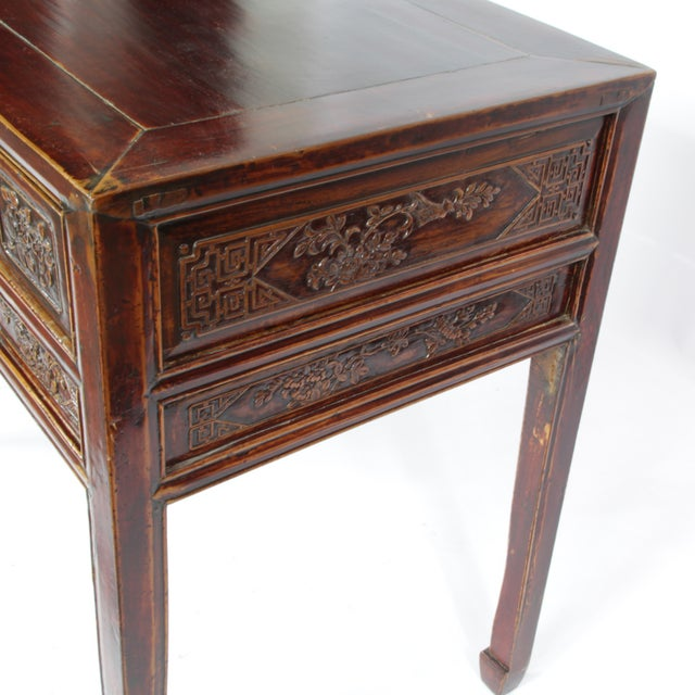 Hand Carved Chinese Antique Desk For Sale - Image 4 of 5 - Hand Carved Chinese Antique Desk Chairish