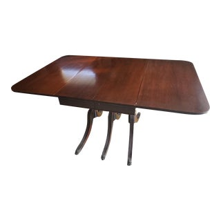 Vintage Queen Anne Duncan Phyfe Dining Room Table For Sale