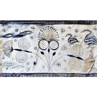 Papyrus Plant Silk Velvet Pillow For Sale