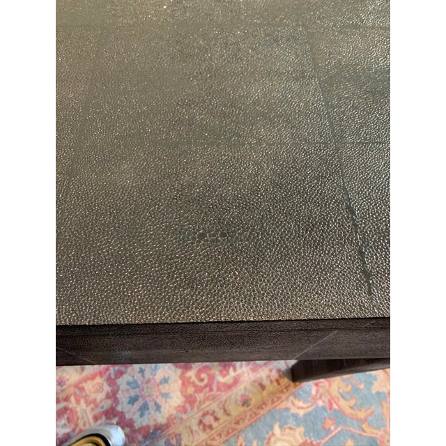 Contemporary Made Goods Black Faux Shagreen Desk For Sale - Image 3 of 9