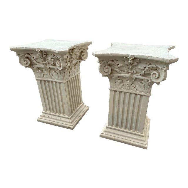 1980s Corinthian Acanthus Roman Dining Table Greek Table Base - 2 Pieces For Sale