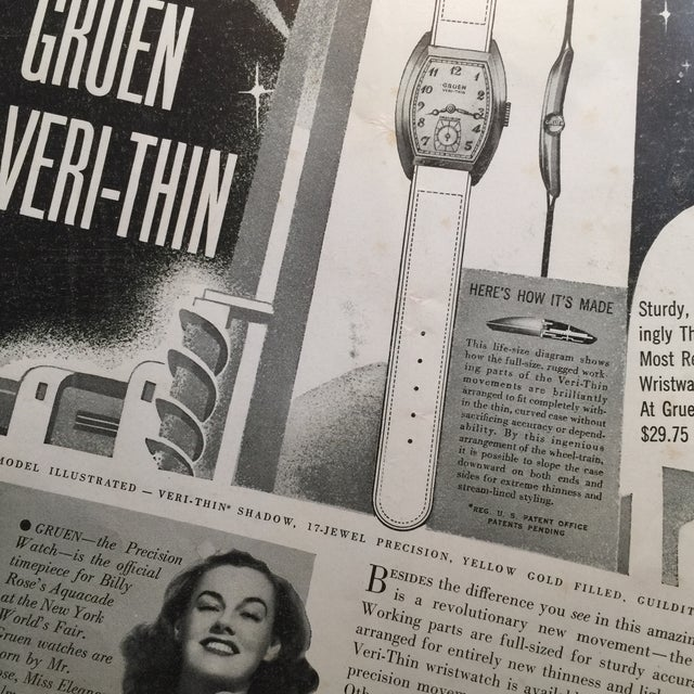1939 New York World's Fair Gruen Watch Ad - Image 3 of 4