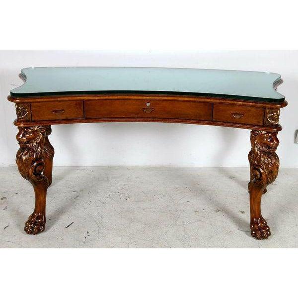 Medieval English Carved Wood Desk - Image 7 of 7