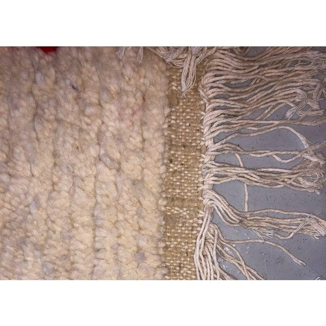 Islamic Vintage Handmade Moroccan Wool Rug - 5′1″ × 7′3″ For Sale - Image 3 of 4