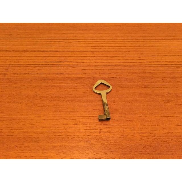Danish Modern Teak Tambour Doors Filing Cabinets - A Pair For Sale - Image 10 of 10