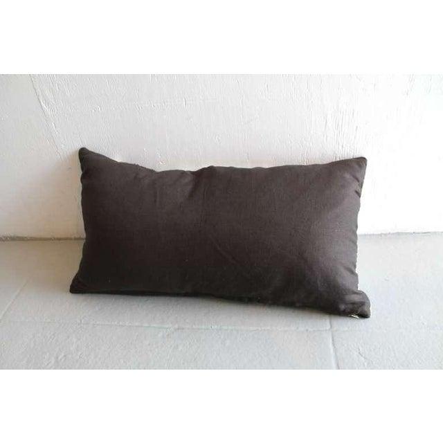Navajo Navajo Geometric Indian Weaving Bolster Pillow For Sale - Image 3 of 3
