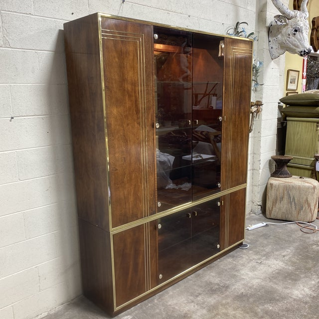 1970s Mid Century Walnut Entertainment Cabinet For Sale - Image 5 of 12