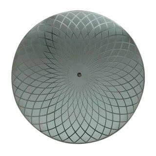 Art Deco Glass Shade Light Fixture