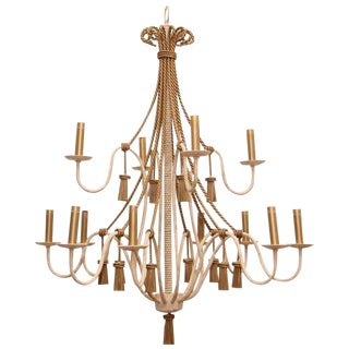 1980s Neoclassical Style Chandelier For Sale