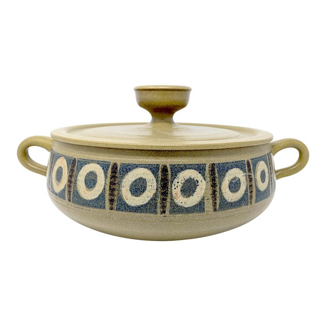 1970s Vintage Wishon-Harrell Pottery Covered Serving Dish For Sale