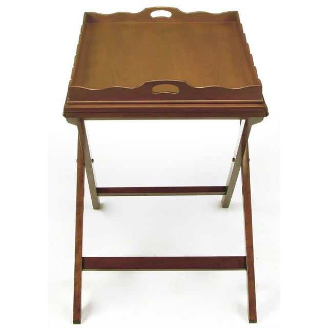 Baker Furniture Company Baker Serving Table with Removable Tray and Butterfly Top For Sale - Image 4 of 9