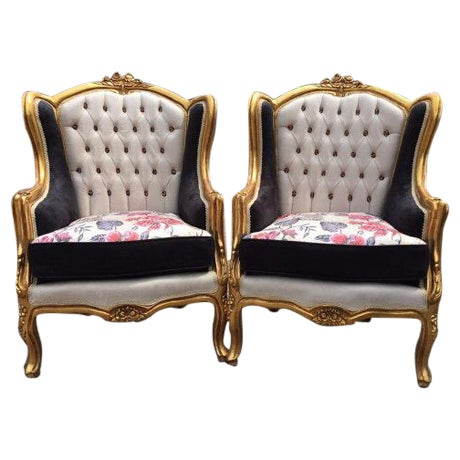 Louis XVI Style Chairs - A Pair - Image 1 of 6
