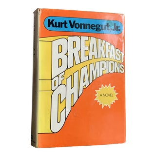 First Book Club Edition Hardcover. 1973 Breakfast of Champions by Kurt Vonnegut For Sale