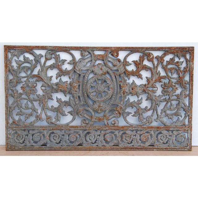 Antique 19th C. French Iron Architectural Panel - Image 3 of 11