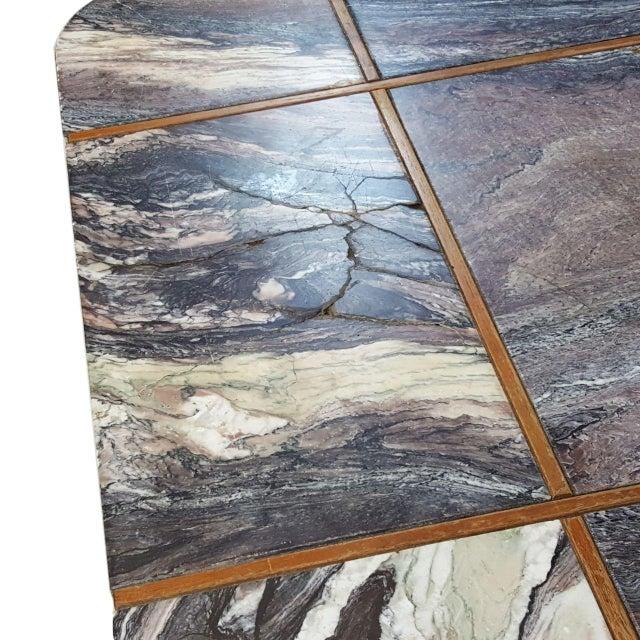 Bendixen Danish Modern Marble Top Coffee Table - Image 6 of 7