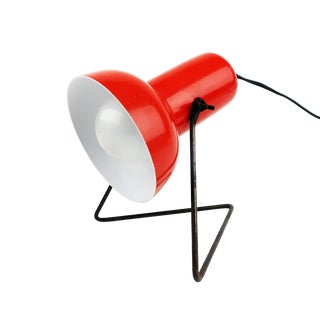 Vintage Adjustable Red Desk Lamp For Sale